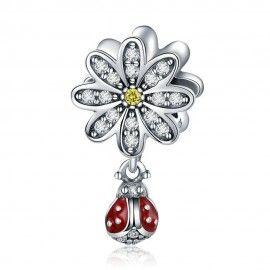 Charm pendente in argento Coccinella