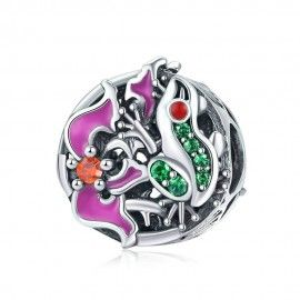 Sterling silver charm Frog