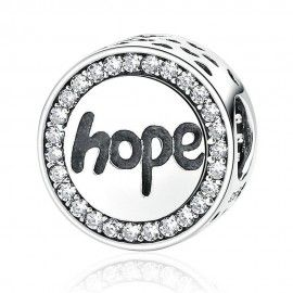 Sterling silver charm Hope