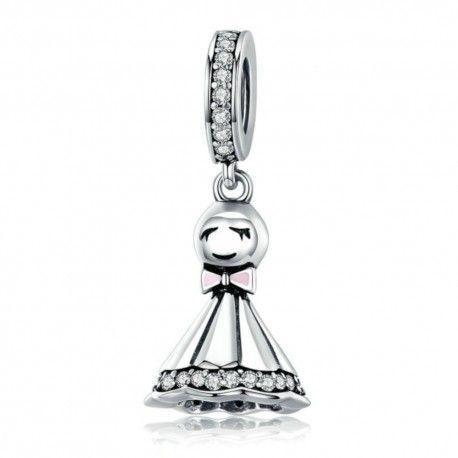 Zilveren hangende bedel Zonnige pop