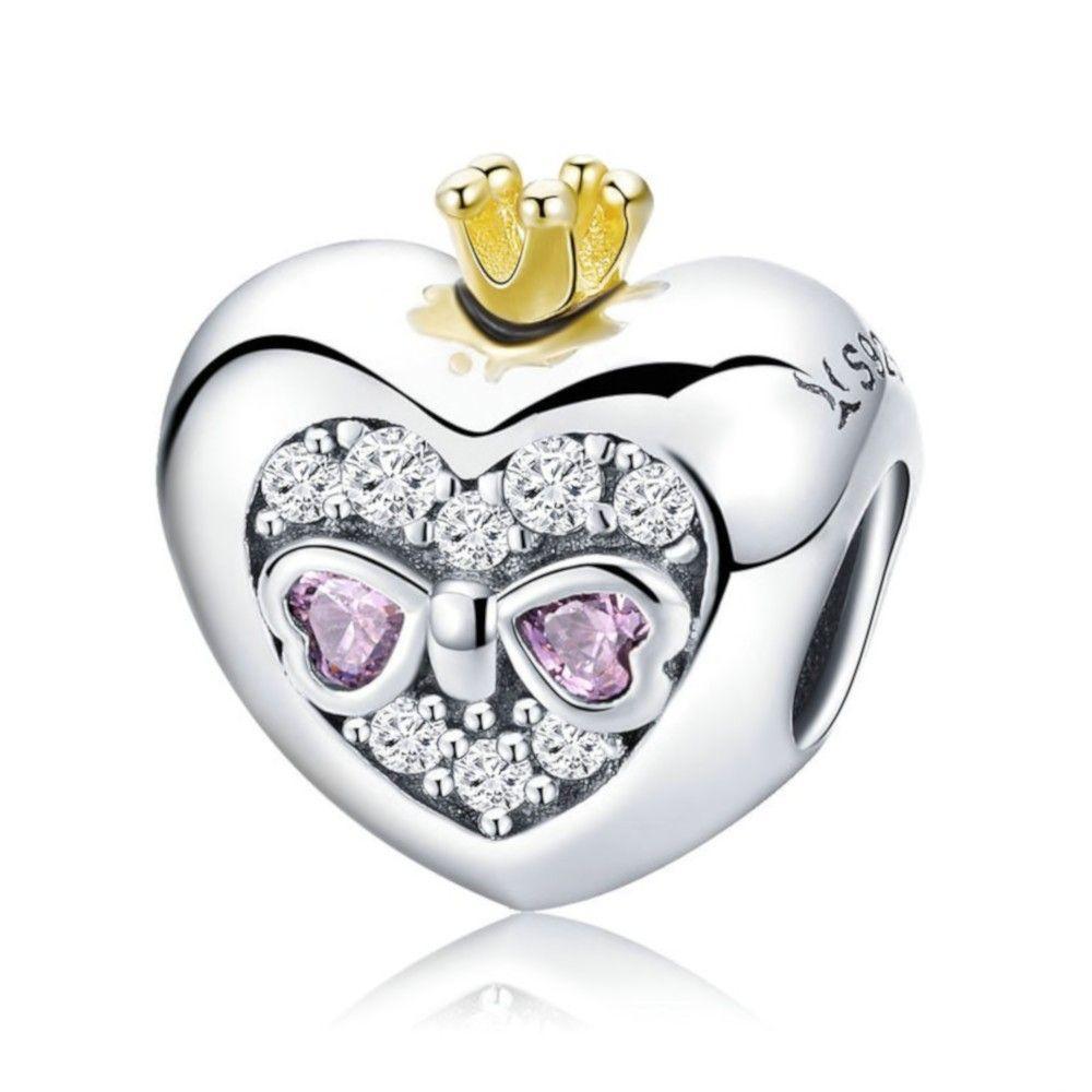 ciondolo pandora cuore di principessa