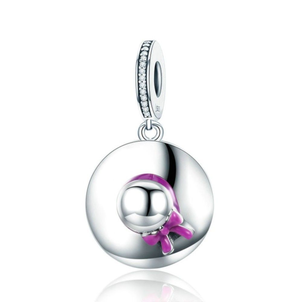 Sterling silver pendant charm Womens hat
