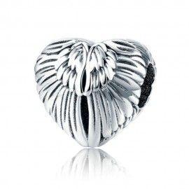 Sterling silver charm Angel wings