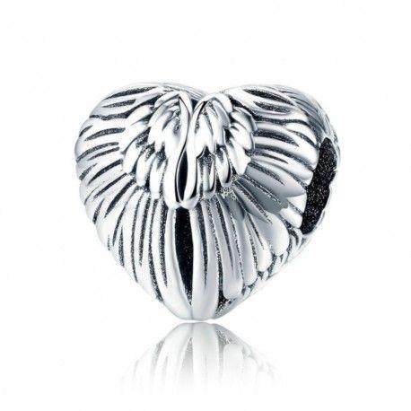 Zilveren bedel Engelenvleugels