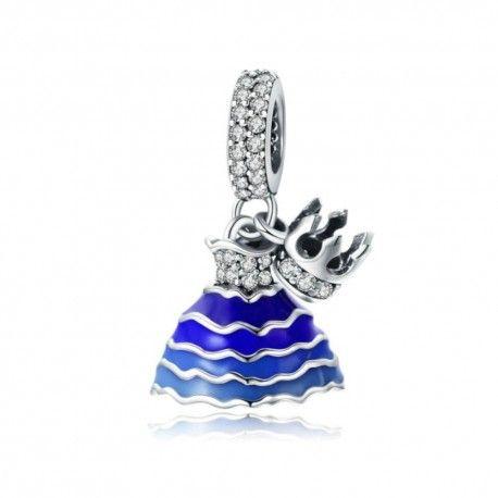 Sterling silver pendant charm Princess dress