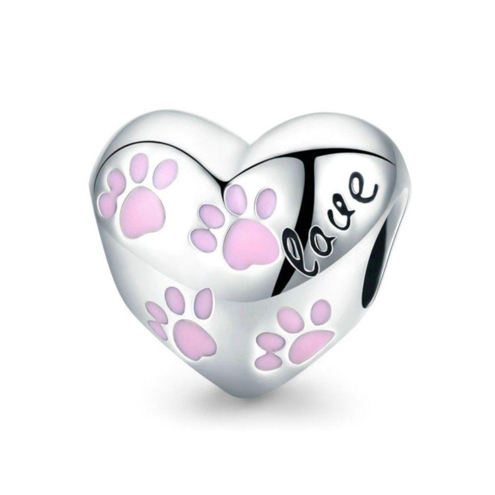 Zilveren bedel Ik hou van honden