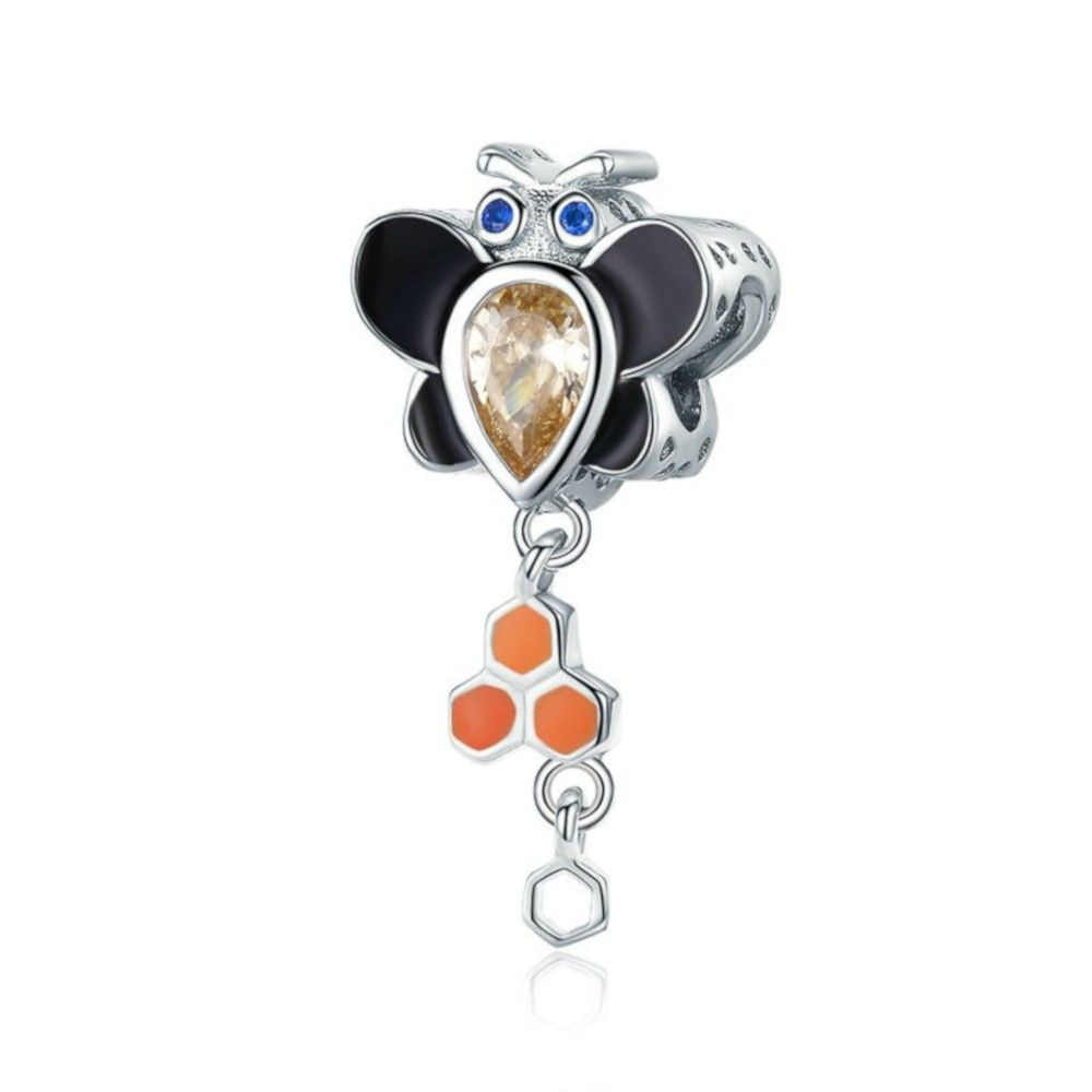 Sterling silver pendant charm Trendy bee