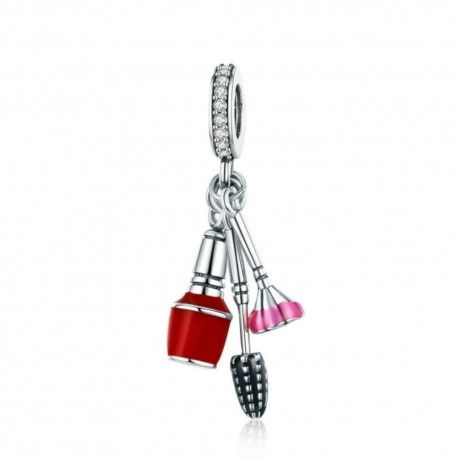 Sterling silver pendant charm Makeup tools
