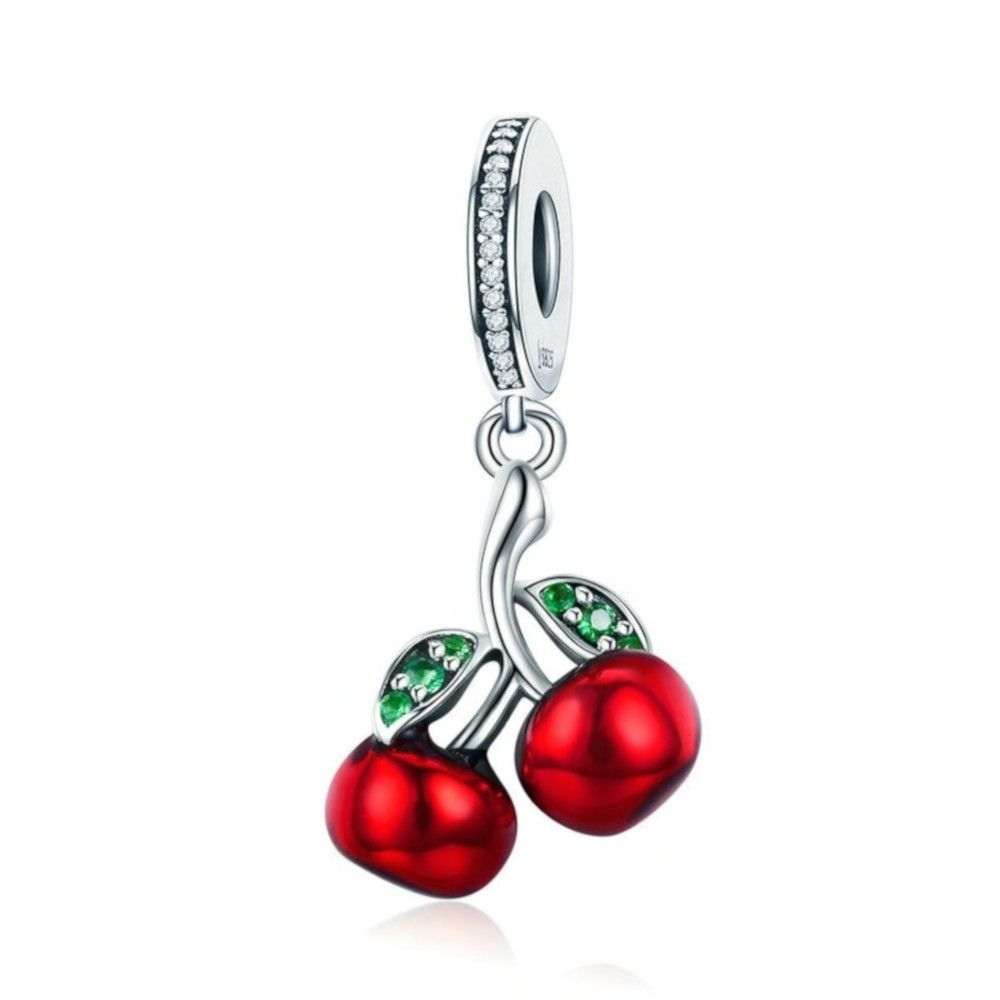 Sterling silver pendant charm Cherry