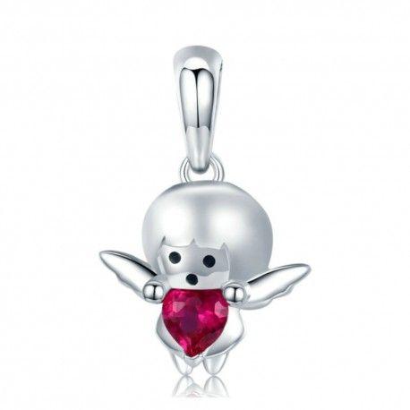 Sterling silver pendant charm Devil boy
