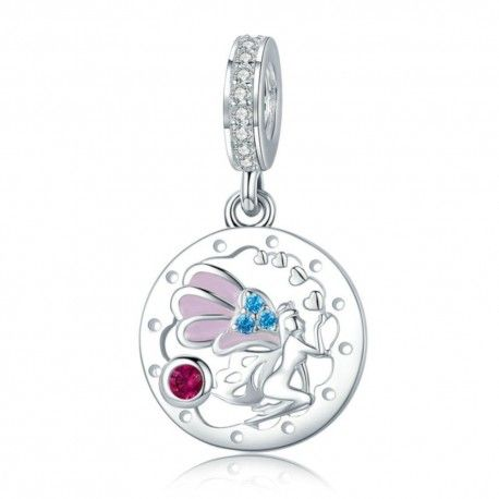 Sterling silver pendant charm Beautiful fairy