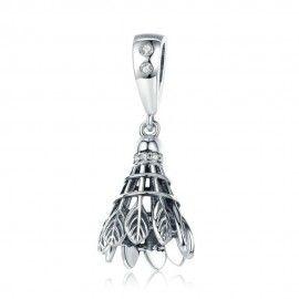 Charm pendentif en argent Badminton