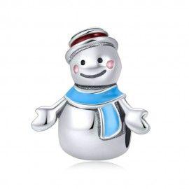 Zilveren bedel Meneer sneeuwpop