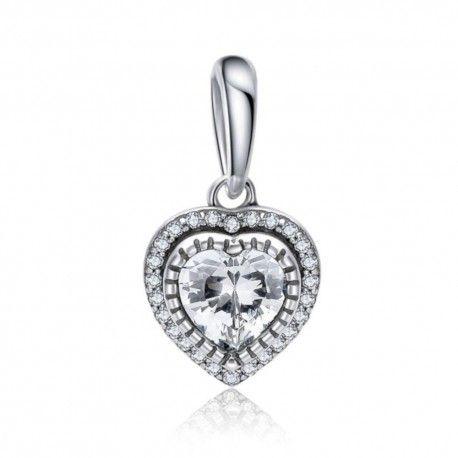 Sterling silver pendant charm Sweet heart