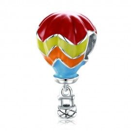 Sterling silver pendant charm Hot air balloon
