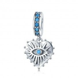 Charm pendentif en argent Coeur de bohème