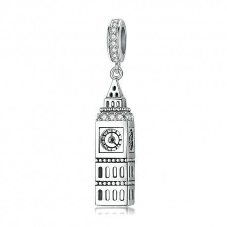 Zilveren hangende bedel De Big Ben