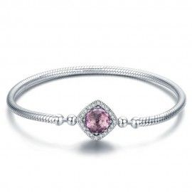 Sterling silver charm bracelet Square