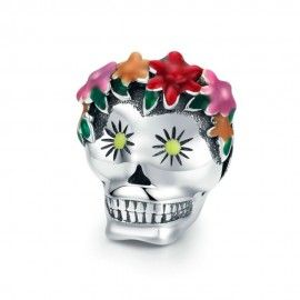 Charm in argento Cranio