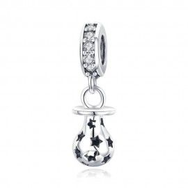 Sterling silver pendant charm Baby pacifier
