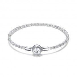 Sterling silver charm bracelet Love forever