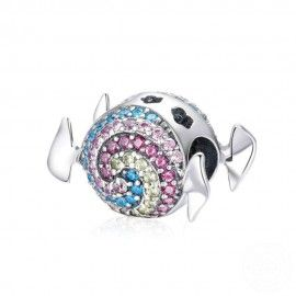 Sterling silver charm Rainbow candy