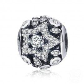 Zilveren bedel Geometrische ster