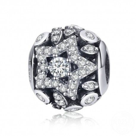 Sterling silver charm Geometric star