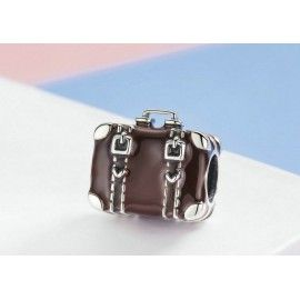 Sterling silver charm Travel suitcase