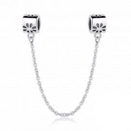 Sterling silver safety chain Daisy