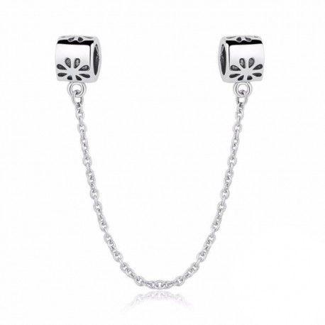 Komfortkette aus Sterling-Silber Gänseblümchen
