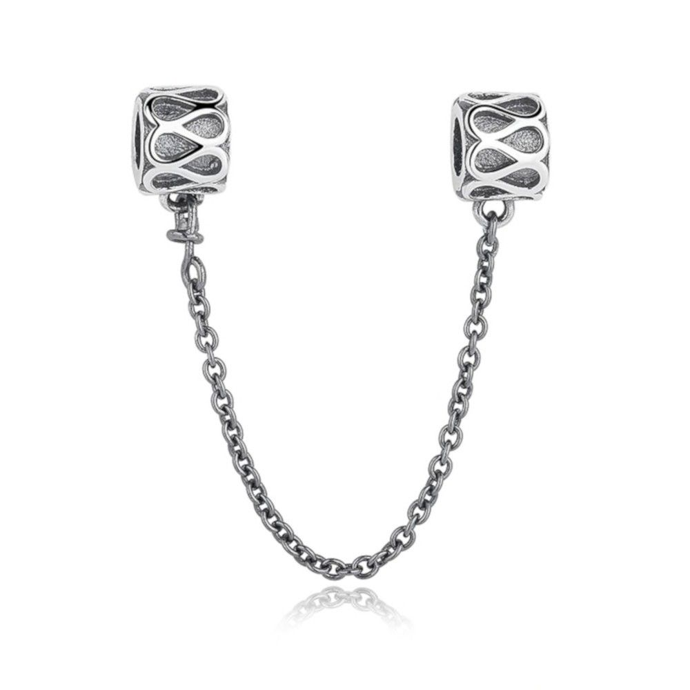 Sterling silver safety chain Waves