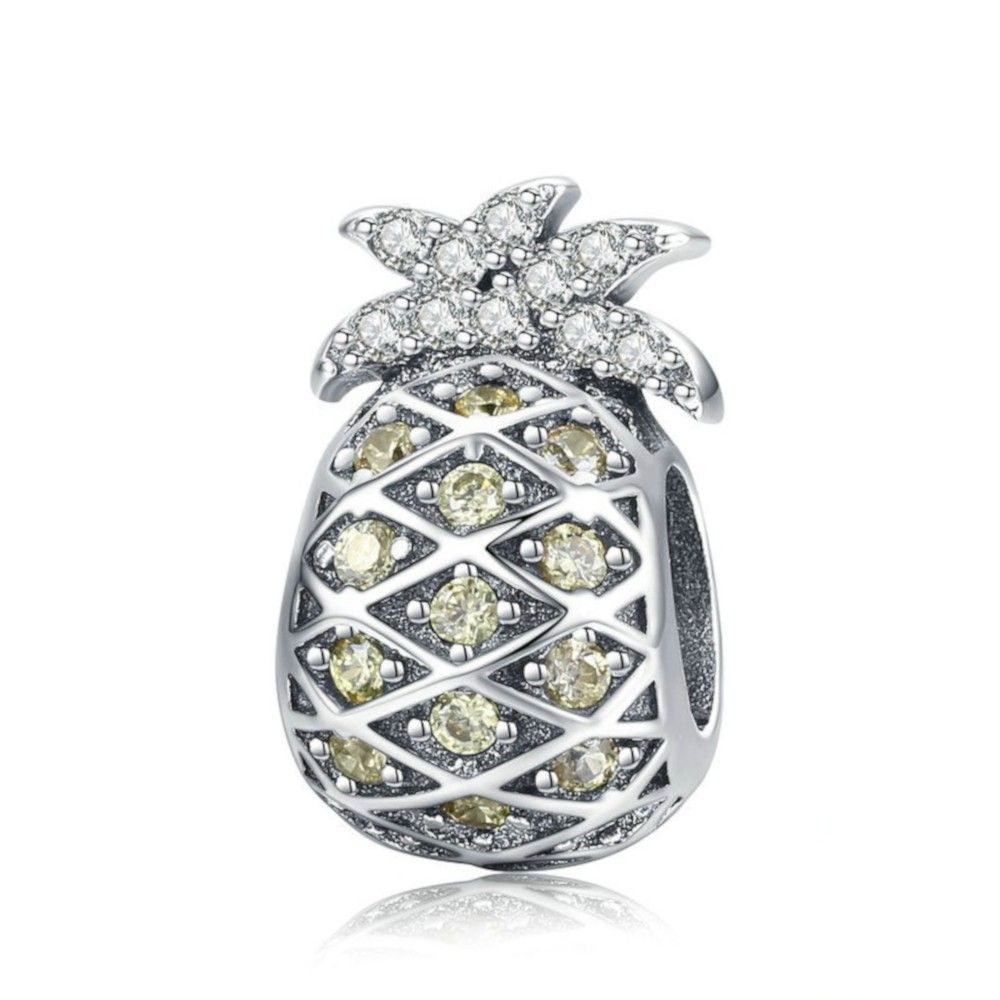 Sterling silver charm Summer pineapple
