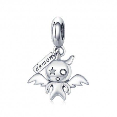 Zilveren hangende bedel Koakuma duivel