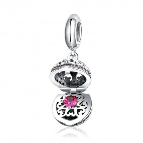 Sterling silver pendant charm Surprise love box