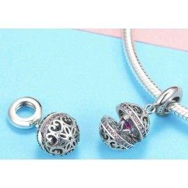 Sterling silver pendant charm Surprise love box