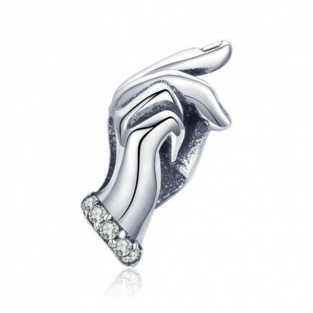 Sterling silver charm Handpalm
