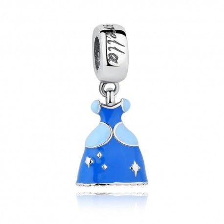 Sterling silver pendant charm Cinderella