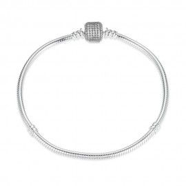 Sterling-Silber Charm-Armband Strahlend