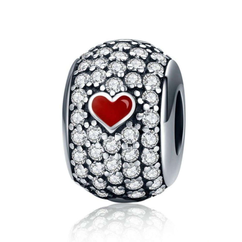 Sterling silver charm Love poker