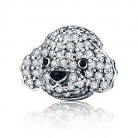Sterling silver charm Teddy