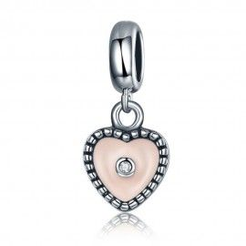 Sterling silver pendant charm True love