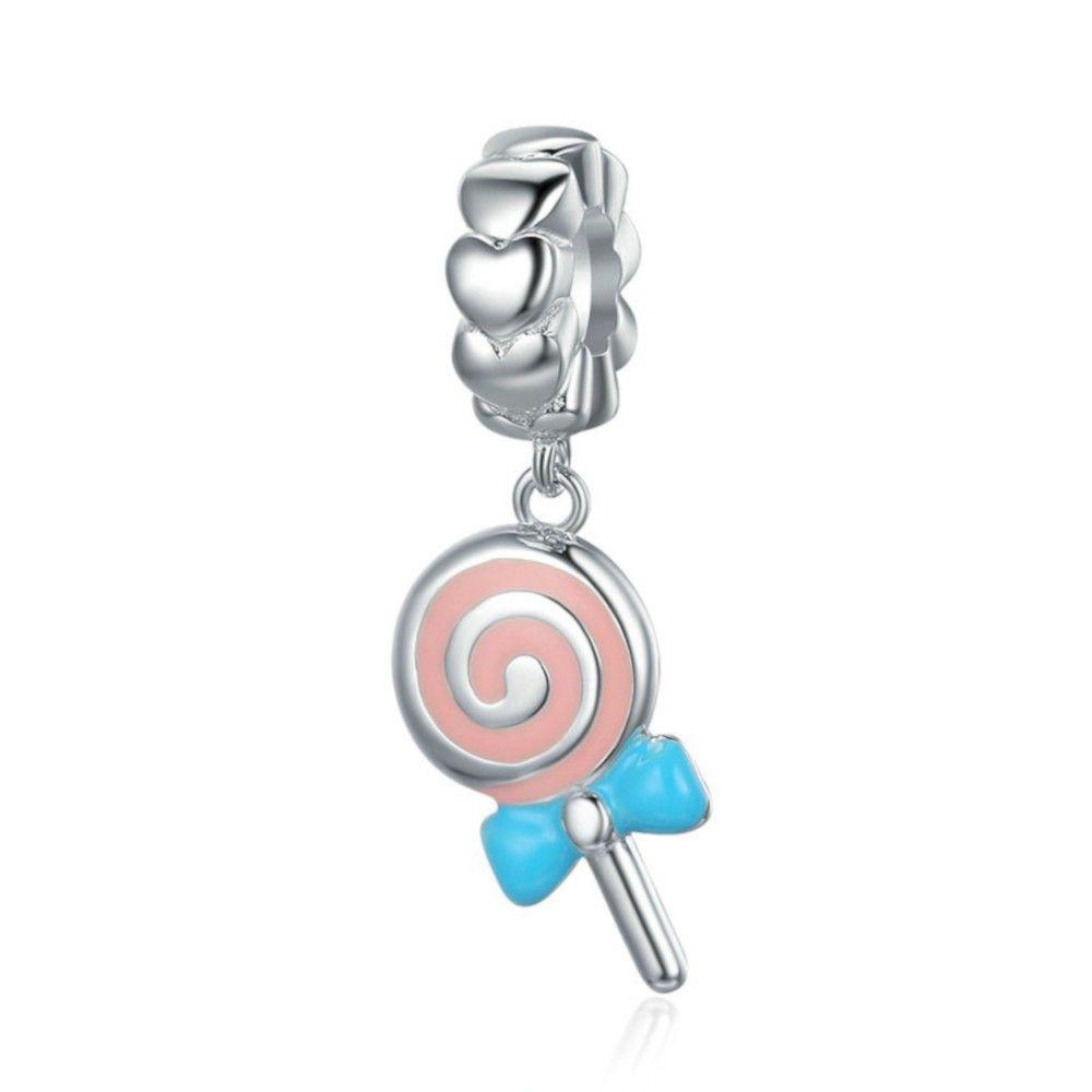 Sterling silver pendant charm Sweet lollipop