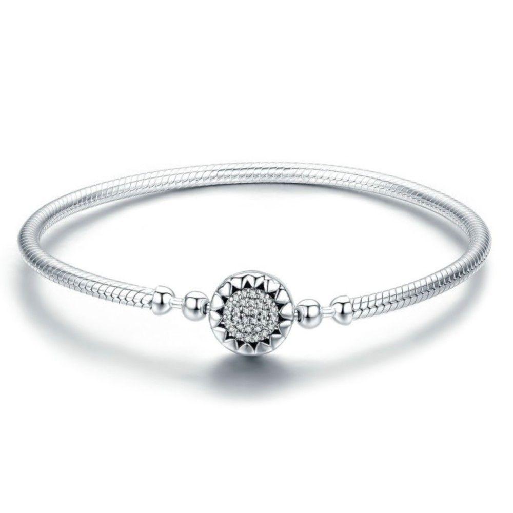 Sterling silver charm bracelet Bright hearts