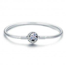 Sterling silver charm bracelet Spring flower