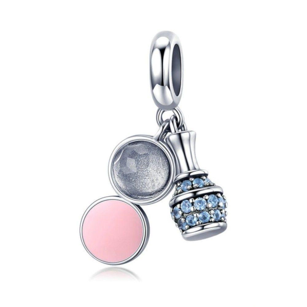 Zilveren hangende bedel Cosmetica