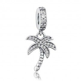 Sterling silver pendant charm Palm tree