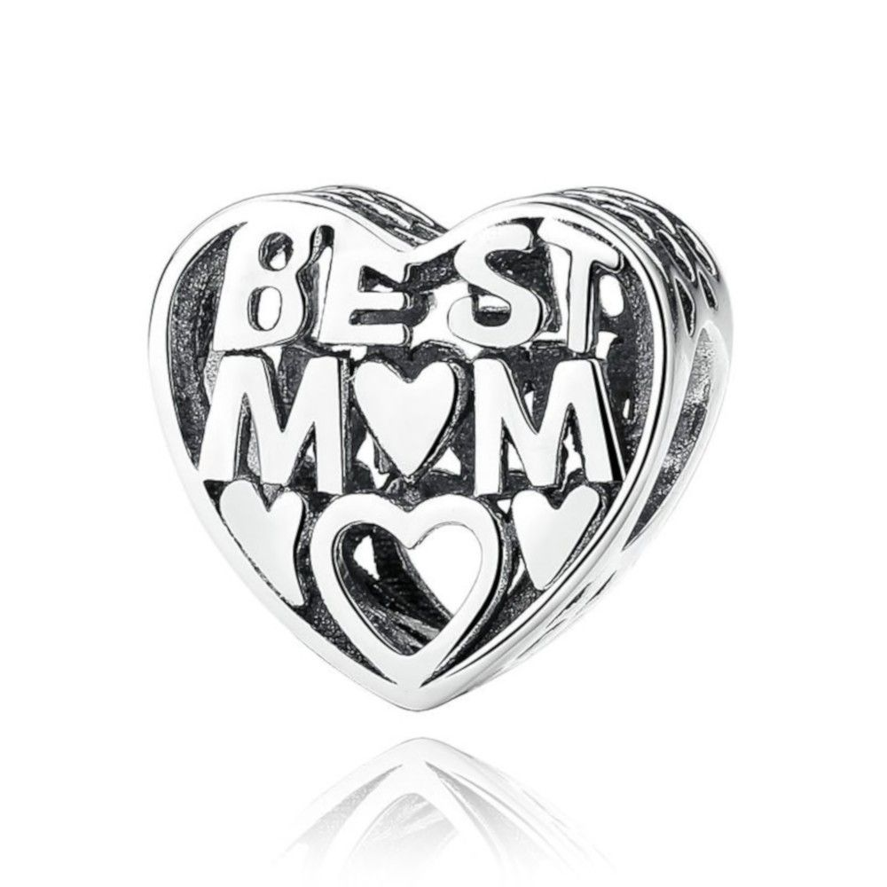 Sterling silver charm Best mom