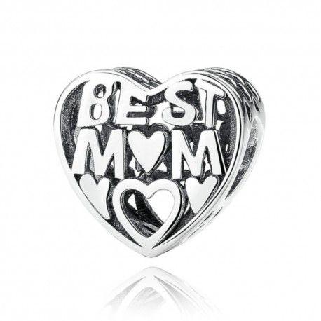 Zilveren bedel Beste moeder