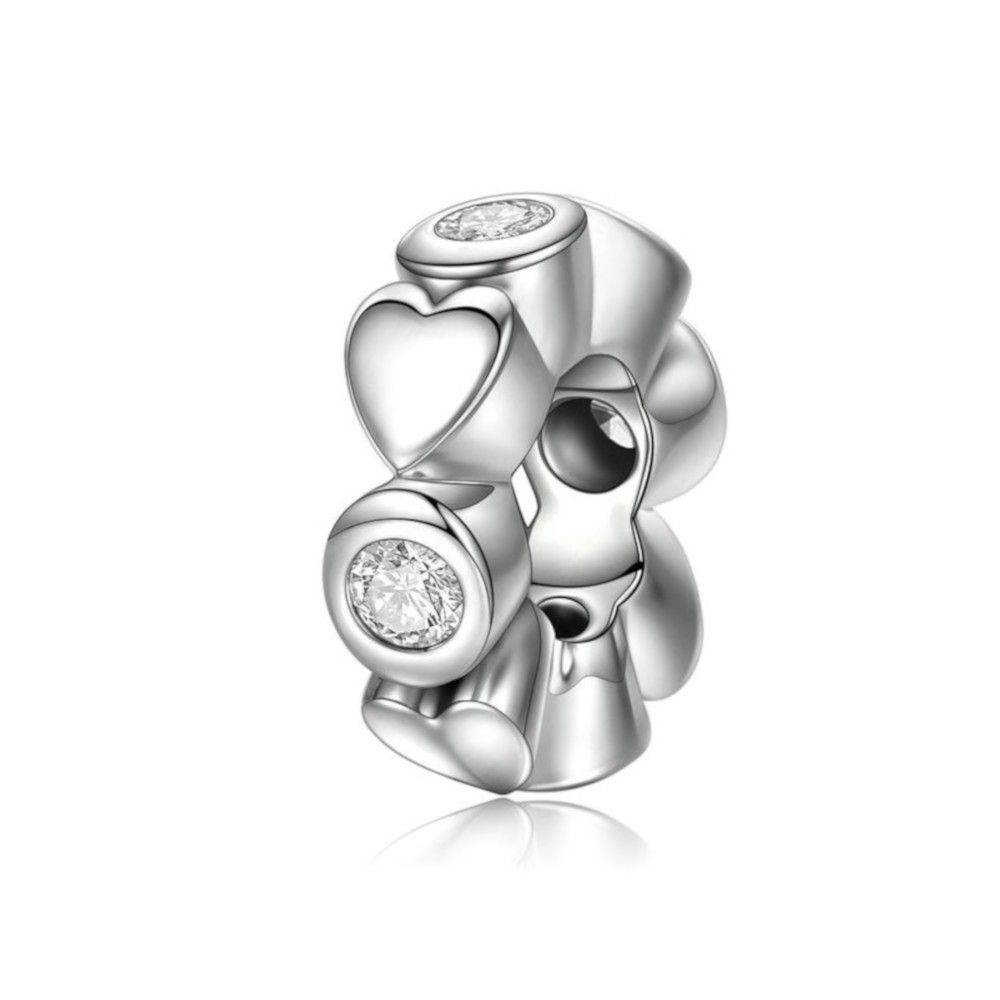 Sterling silver spacer Deep love